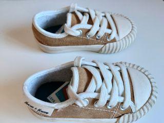 Zapatillas bebé piel talla 20