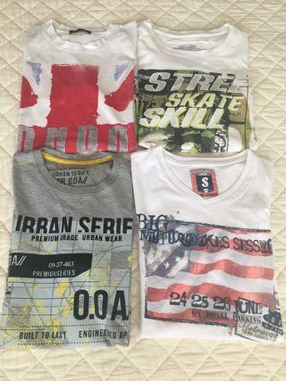 4 camisetas chico