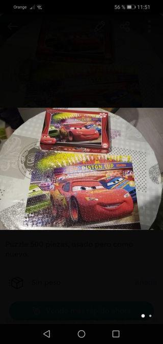 puzzle 500 piezas Rayo McQueen