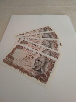 1000 PESETAS 1970.....5 billetes seguidos