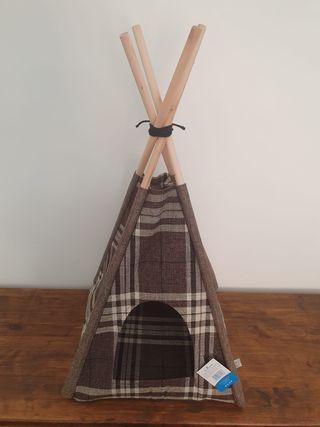 NUEVA - Casa tipi mascota estilo nórdico marrón