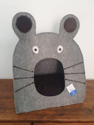 NUEVA - Casa para gatos con forma de ratón gris