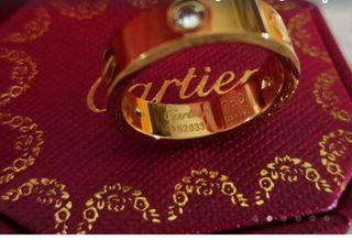 Alianza anillo Cartier LOVE oro amarillo