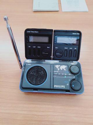 Radio Philips travel radio clock D1868