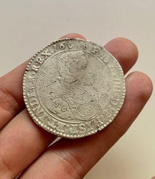 Moneda PLATA DUCATON 1648 Amberes. FELIPE IV