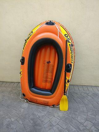 barca hinchable con remo Intex