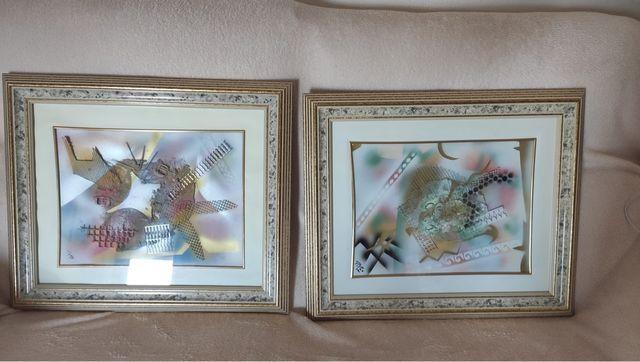 Espejo mural y cuadros