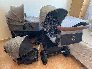 Carro de bebé ( tres piezas)