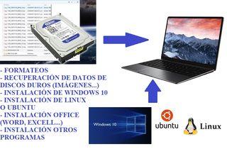 Formateo/Instalación Windows 10/Recuperación datos