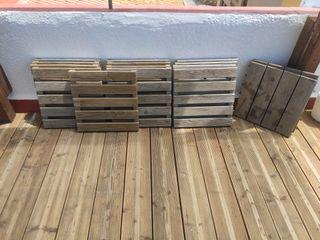 Baldosas de madera para jardín/terrazas...
