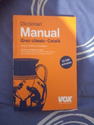 Diccionario Manual Grec classic-Catala