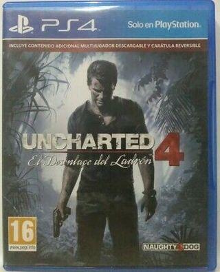 Videojuego Uncharted 4 para PlayStation 4.