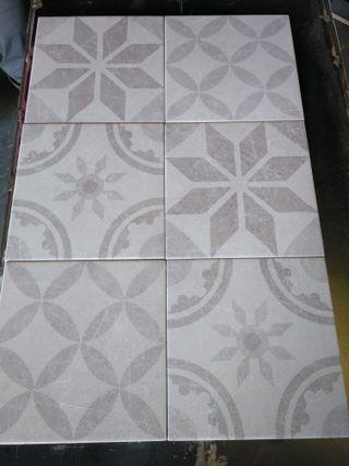 Hidráulico porcelanico variado beige