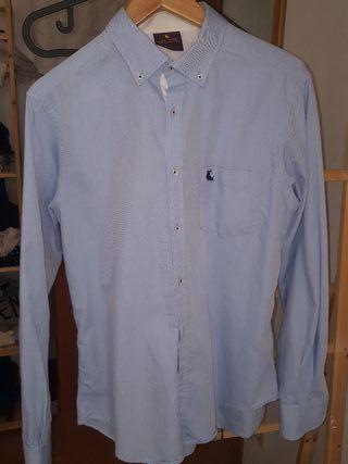 camisa piel de toro azul celeste