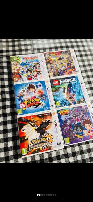 Juegos Nintendo 3Ds y 2Ds XL. 10 euros cada uno.