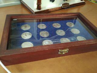 real Madrid 12 monedas de plata