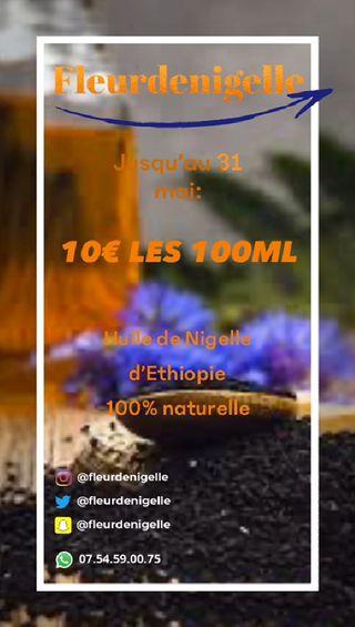 Huile de graines de Nigelle d'Ethiopie Habachia