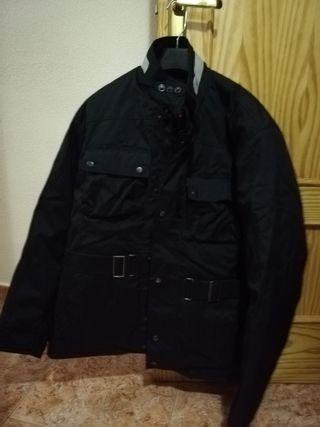 chaqueta de moto negra