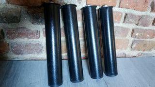 4 Patas cilíndricas para cama o somier color negro