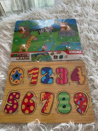 Pack lote juegos puzzles madera bebé niño