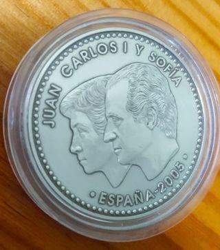 Moneda de 12 € de plata del Quijote