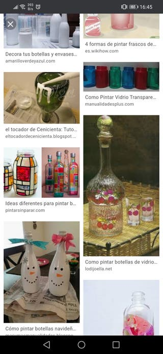Decoración botellas