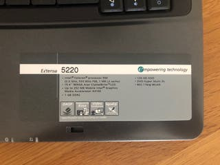 Portátil Acer Extensa 5520