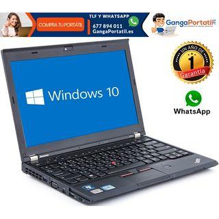 Portátil Lenovo X230, i5/8Gb Ram/500Gb/Win10 Grati