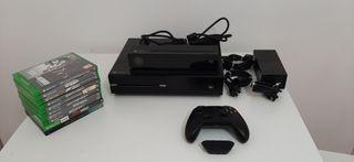 Xbox one + 10 Videojuegos y Kinect ESTÁ COMO NUEVA