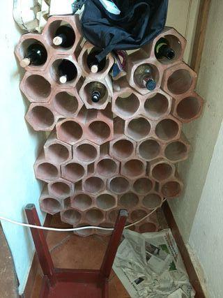 botelleros de ladrillo
