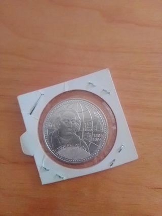moneda 12 euro. plata.