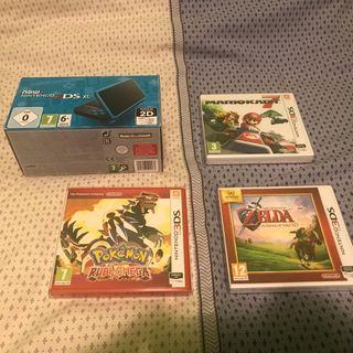 Nintendo 2ds xl + 3 juegos