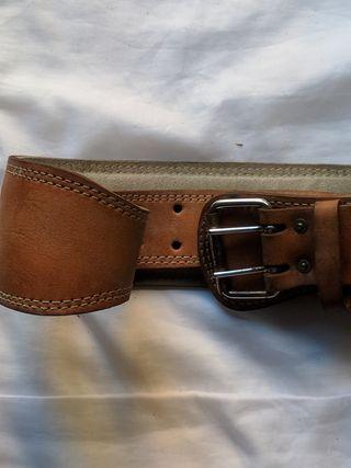 cinturón lumbar de cuero Marca Salter talla XL