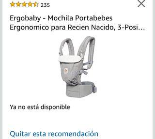 Mochila porta bebé.