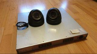 grabador cámaras de seguridad vigilancia casa nego