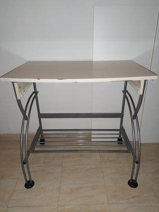 mesa estudio escritorio metal/madera