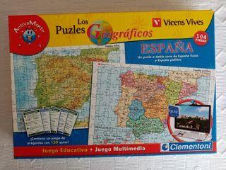 Puzzle Geografico España 104 piezas + Juego Webcam