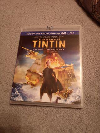 Tintin bluray + bluray 3D
