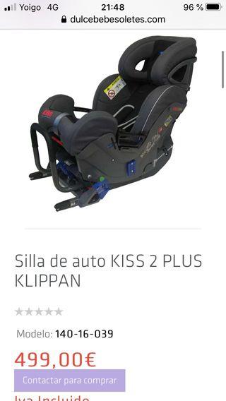 Silla coche Niño Kiss 2 plus