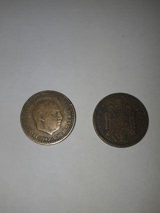 Moneda 1 peseta de Franco del 1947
