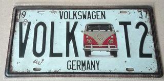 Matrícula decoración Volkswagen T1 y T2.