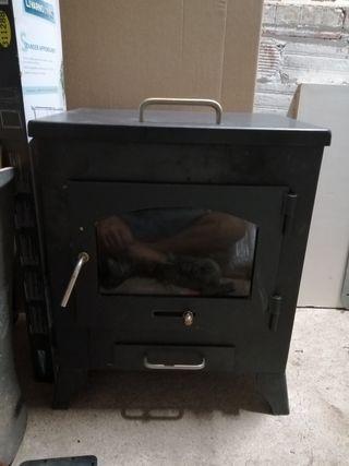 estufa forja de leña