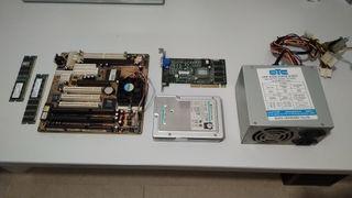 Combo AMD K6 + Placa Súper 7 + RAM + HDD + PSU