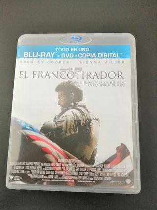 PELÍCULA: EL FRANCOTIRADOR - BLU-RAY +DVD - COMBO.