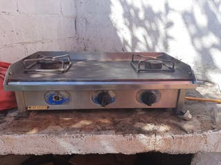cocina plancha 3 fogones industrial