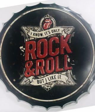 Chapa gigante Rock & Roll NUEVA Stock TiendaMúsica