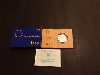 Estuche Moneda 1 Ecu Plata 1994 España