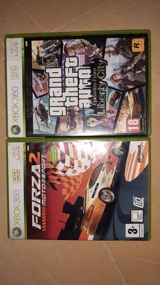 Dos juegos Xbox360.