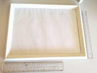 Marco fotos de madera blanco