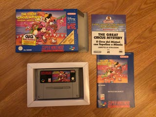 The Great Circus Mystery SNES nuevo Súper Nintendo